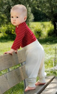 f985ef90de9fc2 Hose für Babies aus kbT-Wolle und Seide