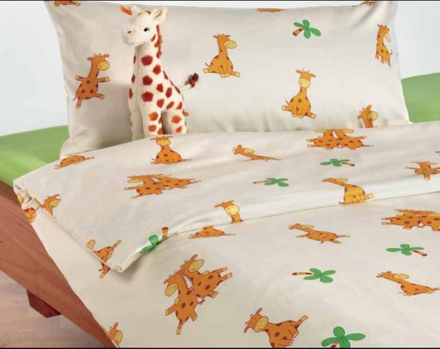 bio kinderbettwaesche giraffe biber 40x60. Black Bedroom Furniture Sets. Home Design Ideas