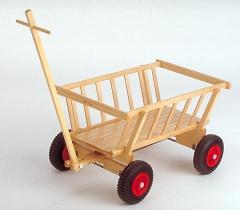 leiterwagen aus holz handwagen lebensfluss spielzeug. Black Bedroom Furniture Sets. Home Design Ideas