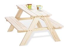 sitzgarnitur nicki f r 4 kinder unbehandelt lebensfluss berlin kindersitzgarnitur von pinolino. Black Bedroom Furniture Sets. Home Design Ideas